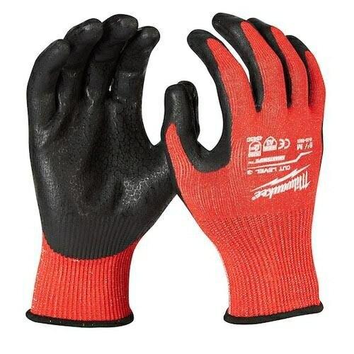 Milwaukee米沃奇第三級認證防割手套(M)