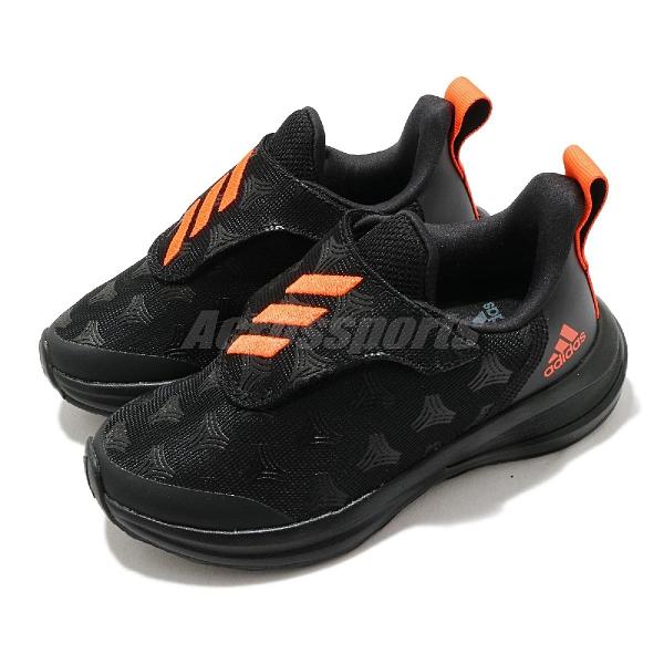adidas 慢跑鞋 FortaRun Tango AC K 黑 橘 童鞋 中童鞋 運動鞋 【ACS】 FV3312