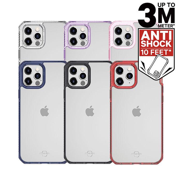 ITSKINS iPhone 12/mini/Pro/Pro Max HYBRID CLEAR-防摔保護殼12/12 Pro 黑