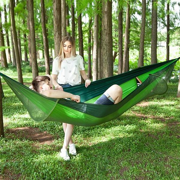 吊床防蚊蟲自動速開帶蚊帳