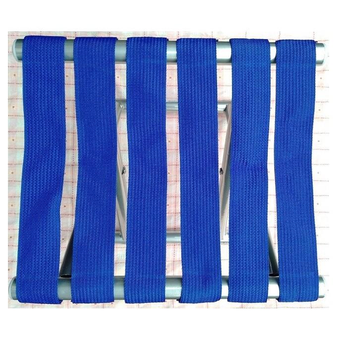 省您錢購物網全新~藍條圓管折疊椅