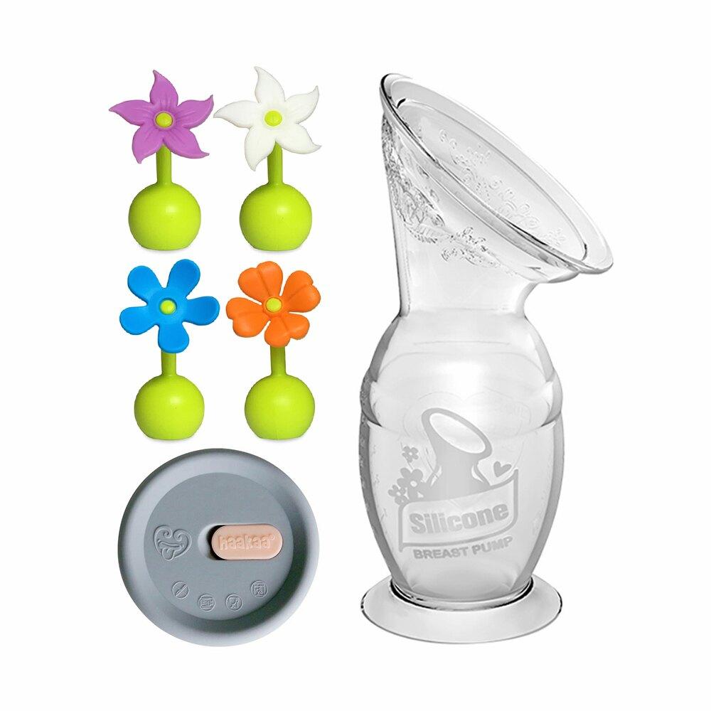 haakaa 紐西蘭 第二代真空吸力集乳器+小花瓶塞+防塵瓶蓋《外出優惠3件組》