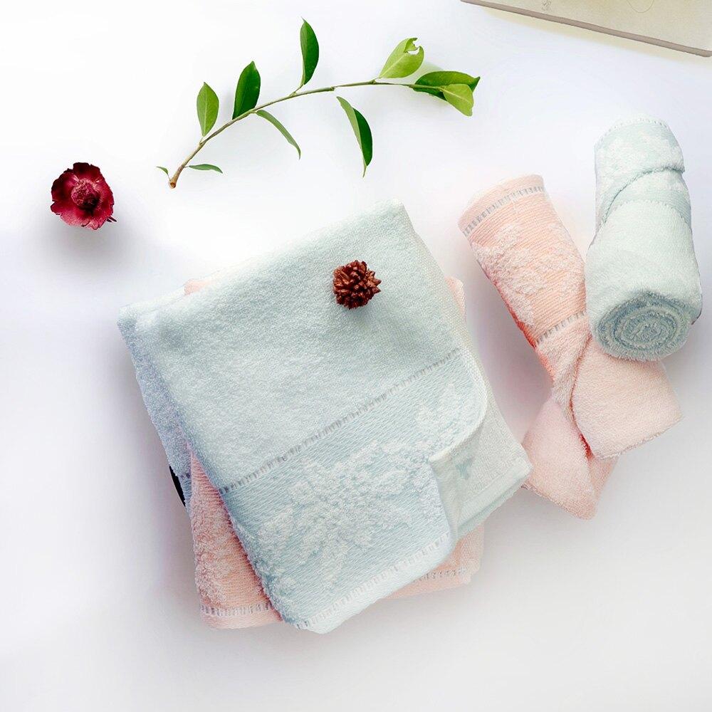 超值 衛浴 毛巾 浴巾 方巾 居家生活 葉之風華緹花毛巾 唯美楓葉/ 2色 2入組【Gemini双星毛巾】