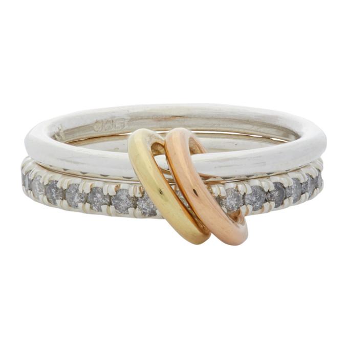 Spinelli Kilcollin 银色 and 金色 Marigold Two-Link 戒指