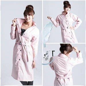 BrightDay風雨衣連身式 - 立領排釦大衣款