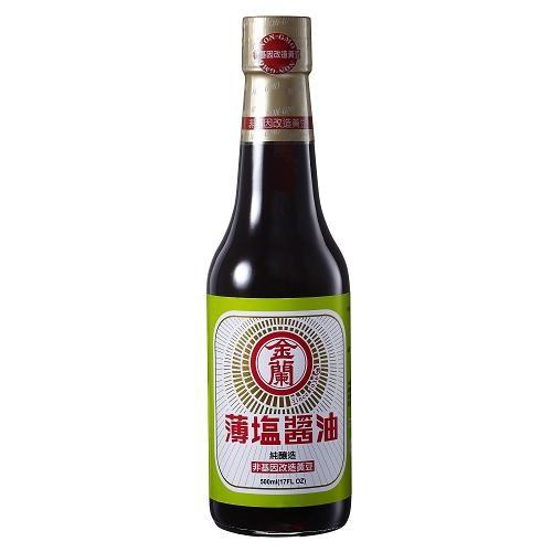 金蘭薄鹽醬油(非基因改造黃豆)500ml【愛買】