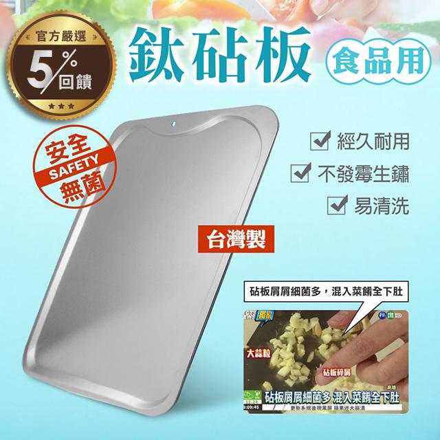 【鈦豐】台灣製抗菌鈦砧板 1入/盒【LINE 官方嚴選】