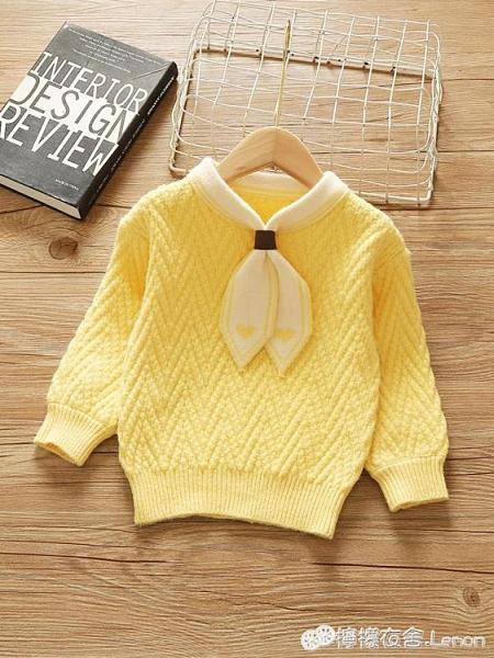1歲2女童套頭毛衣秋冬新款女寶寶針織衫加厚兒童洋氣打底上衣