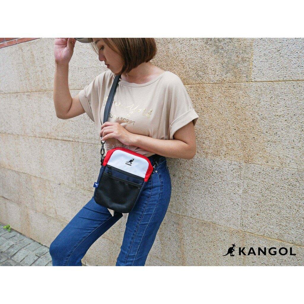 英國 KANGOL 袋鼠 經典Logo刺繡 網袋包 小方包 側背包 斜背包 隨身小包 潮流小包 男女通用 正版公司貨