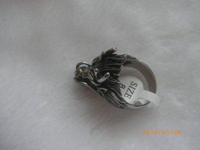 0637鋼戒指西德316L白鋼白龍王戒招財護身10號戒圍