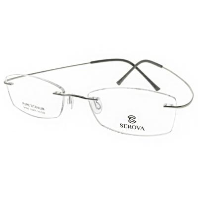 SEROVA光學眼鏡 無框款/銀#SP602 C2