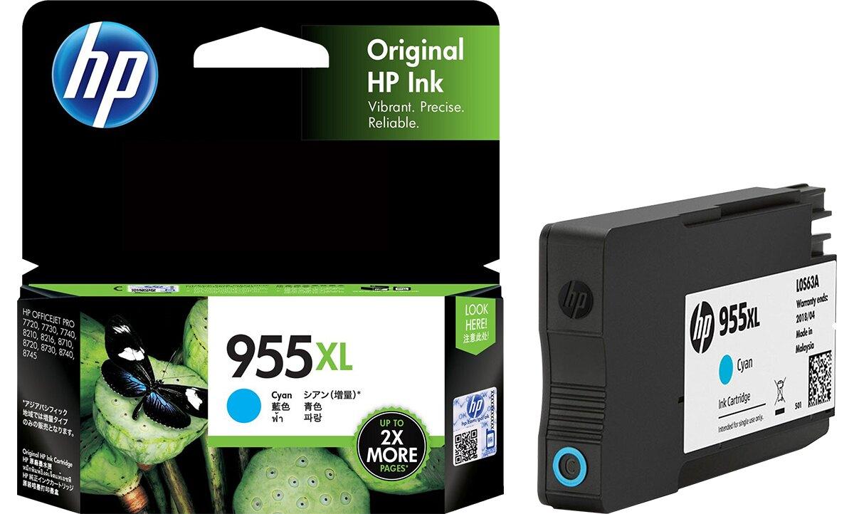 【歐菲斯辦公設備】惠普 HP L0S63AA NO.955XL 原廠彩色高印量墨水匣 青色 約可印1,600頁