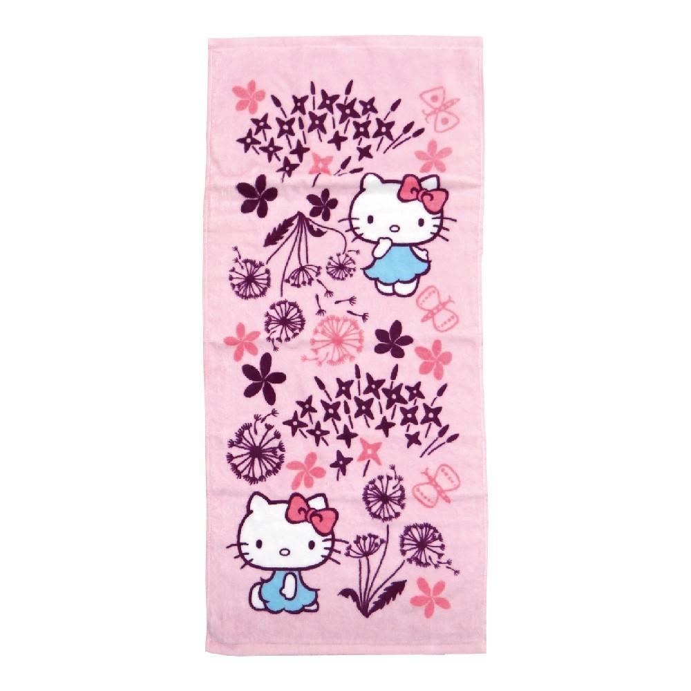 凱蒂貓x印花樂毛巾-蒲公英【康是美】