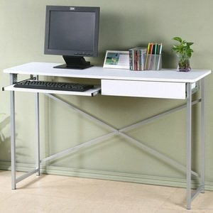 【YoStyle】超值附抽電腦桌-寬120公分(純白色)