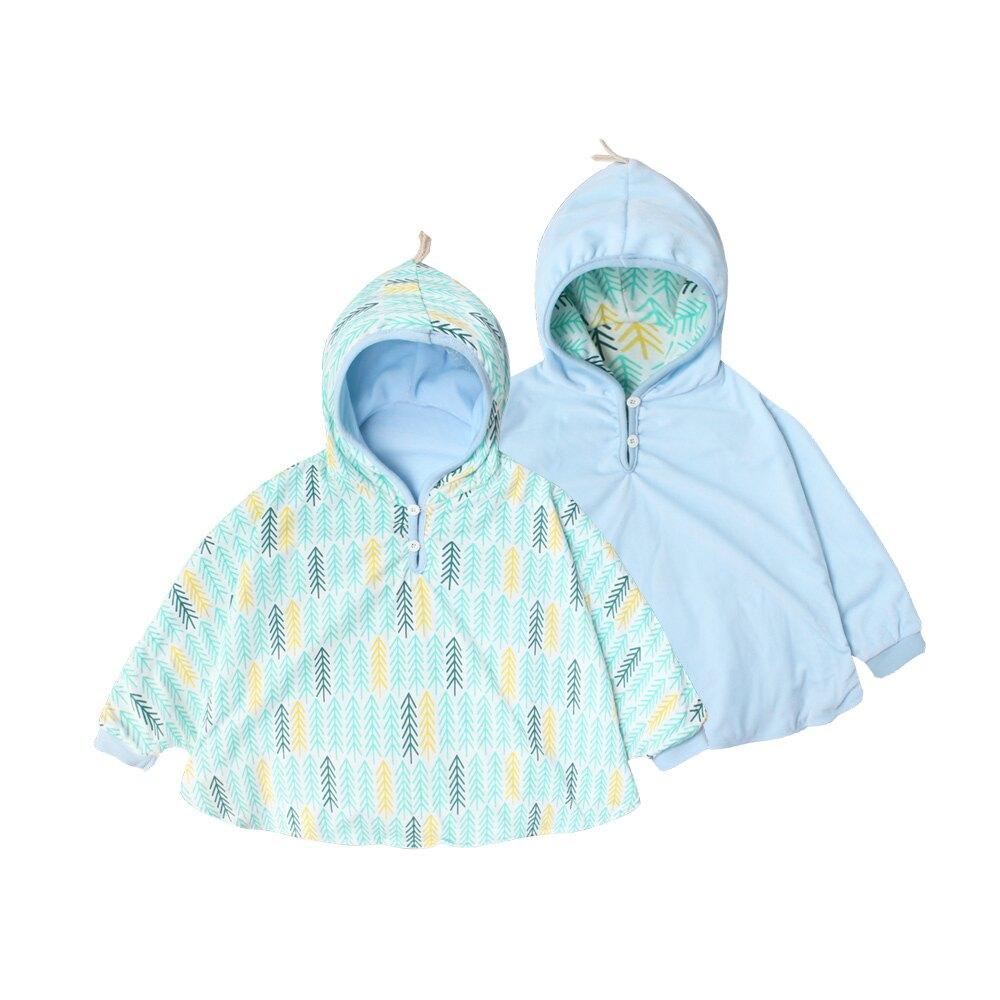 Augelute Baby 可愛印花雙面可穿寶寶連帽披風 60324