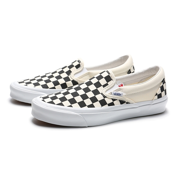 VANS 休閒鞋 VAULT OG CLASSIC SLIP ON 黑白 棋盤格 經典款 懶人鞋 男女(布魯克林) VN0A45JKT0A