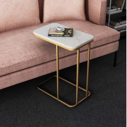北歐沙發邊幾輕奢邊櫃邊桌大理石角幾床頭桌床邊桌U型方桌小茶幾