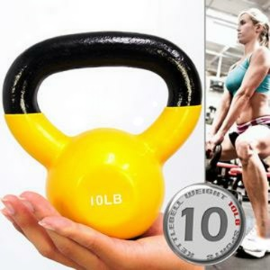 KettleBell包膠10磅壺鈴(橡膠底座) C113-2010 浸膠10LB拉環啞鈴.搖擺鈴.舉重量訓練.