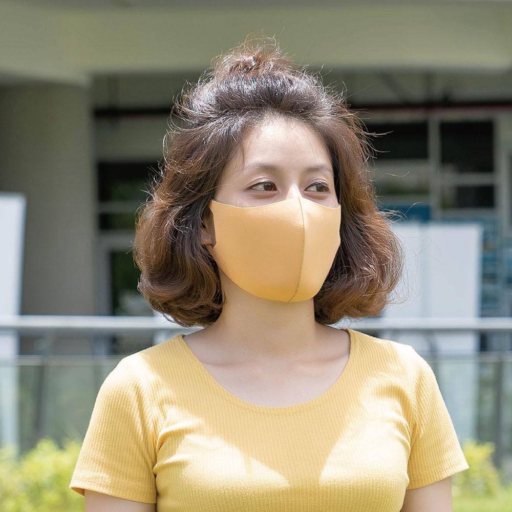 台灣製造-防潑水雙色4款-3D立體防曬抗菌透氣口罩單入組