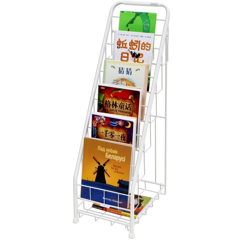 鐵藝雜誌架 SOFSYS兒童繪本架窄書架鐵藝幼兒園報刊書架簡易寶寶展示架6層S『J7655』