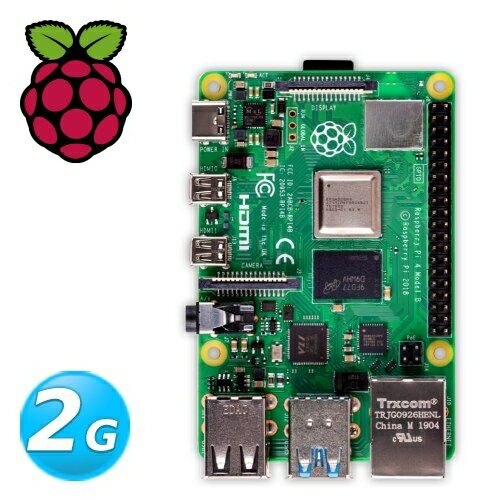樹莓派Raspberry PI 4 B版 2G (V1.2版)
