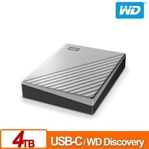 WD 威騰 My Passport Ultra 4TB(炫光銀) 2.5吋USB-C行動硬碟