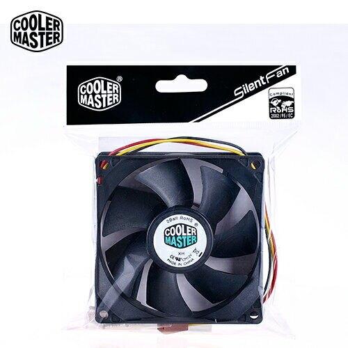 【Cooler Master 酷碼】Silent Fan 雙滾珠 軸承 8公分 風扇【三井3C】