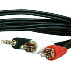 影音線3.5mm立體聲-2RCA公線 3M(裸裝)