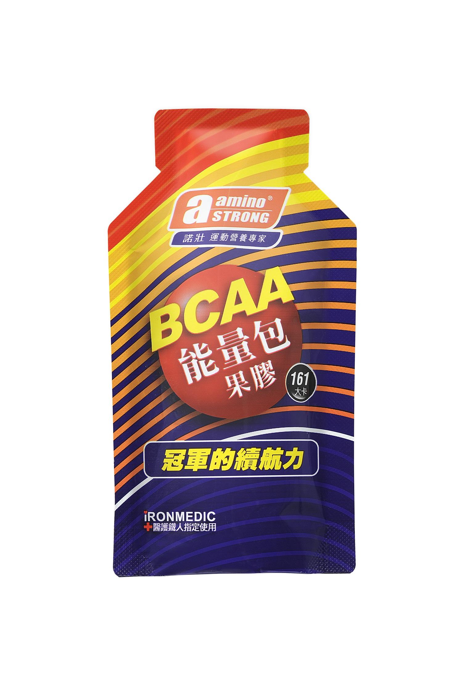 騎跑泳者-Amino Strong/諾壯/BCAA能量果膠/全素,葡萄風味/161大卡!2022/01/01