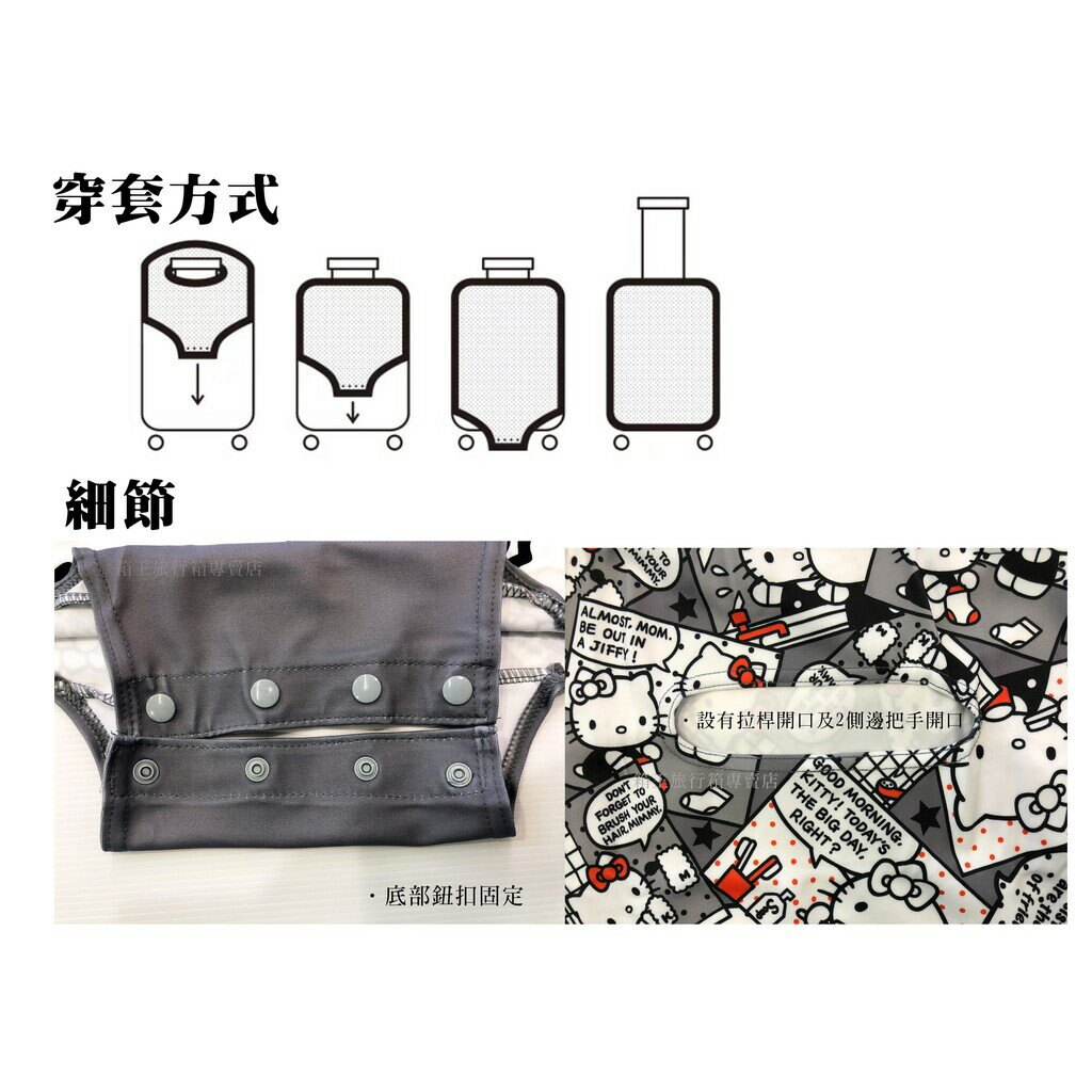 LOQI 柏林 行李箱套 保護套 彈力布保護套 防塵套【M號】