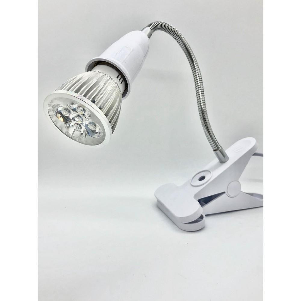 e27燈座(不含燈泡) 軟管夾燈 白色 (軟管20cm) 有開關 蛇管燈 夜市燈 工作燈
