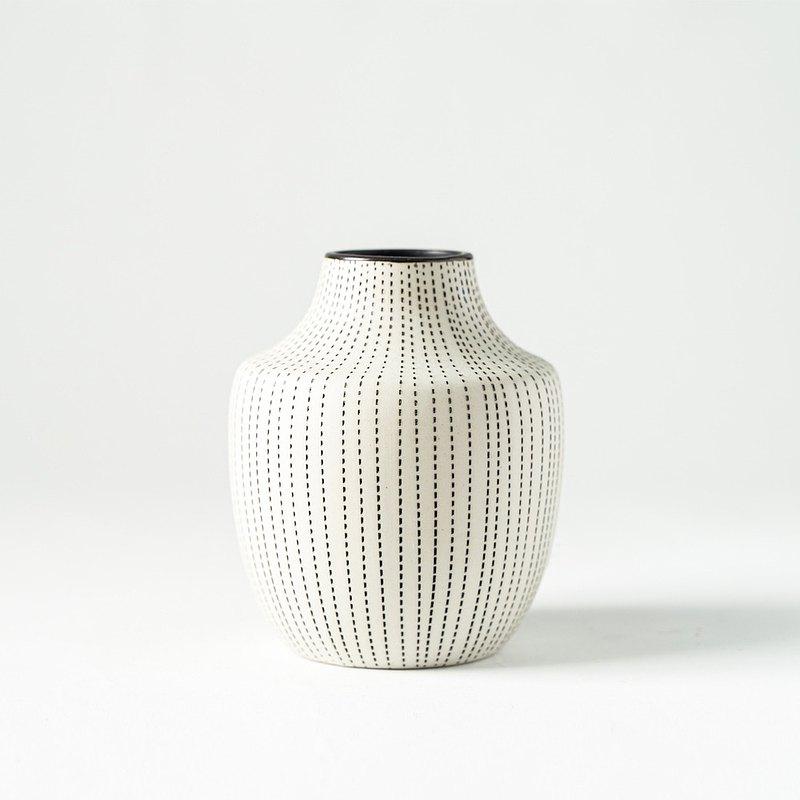 花器/花瓶  點點線條小花瓶