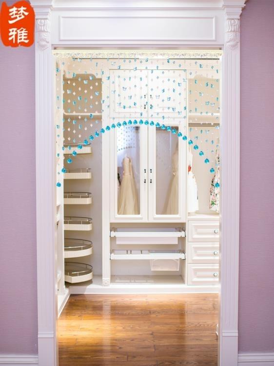 珠簾 珠簾水晶隔斷客廳玄關掛鏈子衛生間半掛垂新款裝飾歐式門鞋柜屏風