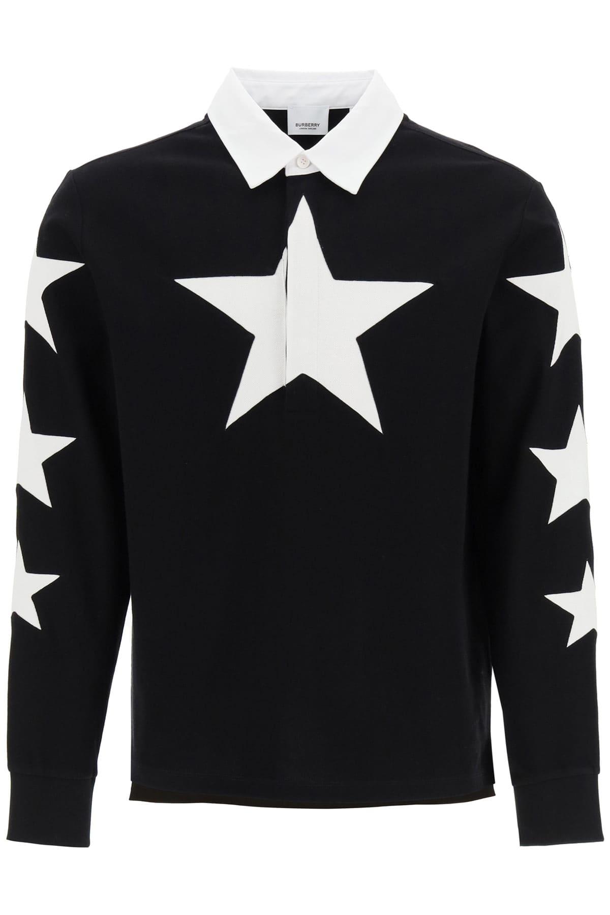 BURBERRY EASTON STAR POLO L Black, White Cotton