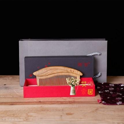 木梳 梳子木梳檀香木天然家用梳子女卷髮大齒梳子家用寬齒木梳