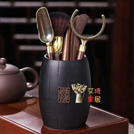 茶夾套裝 黑檀茶道六君子套裝功夫茶具配件6君子泡茶工具茶夾茶針茶刀
