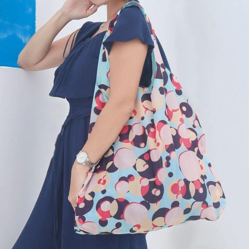摺疊環保購物袋─棕櫚泉系列─櫻桃