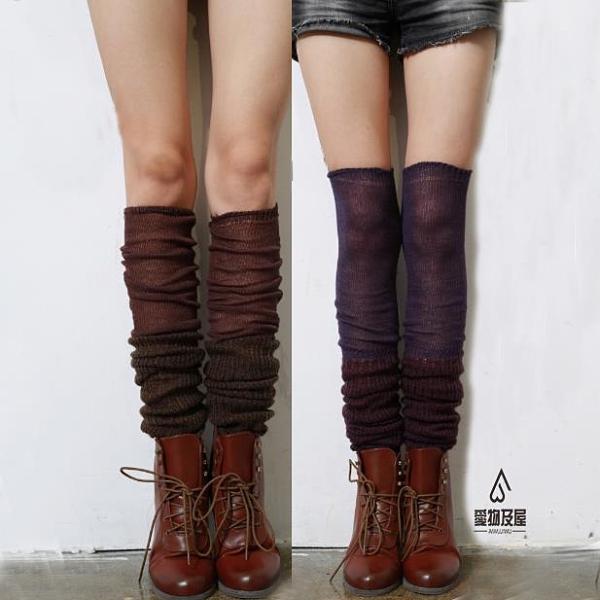堆堆襪靴套腿套女襪子日系長筒襪過膝襪高筒襪時尚襪套【愛物及屋】