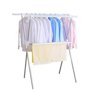 HomeZone鋁合金X型曬衣架附毛巾架