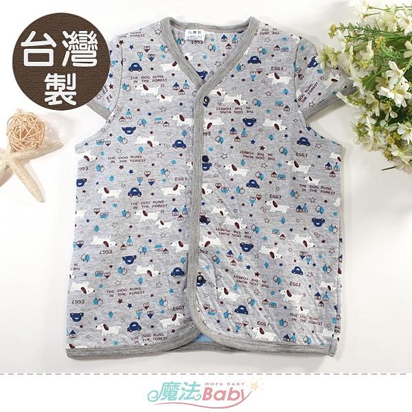 嬰幼兒睡袍 台灣製秋冬季三層棉厚款背心式保暖睡袍 魔法Baby