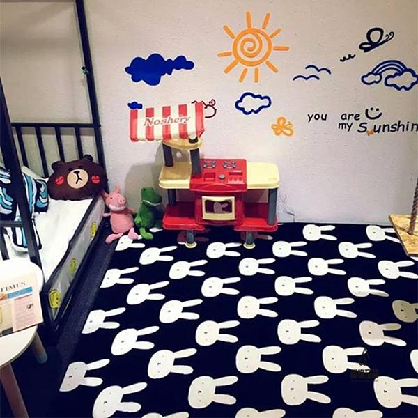 爬行墊爬爬墊卡通游戲毯可水洗客廳臥室地墊寶寶【愛物及屋】
