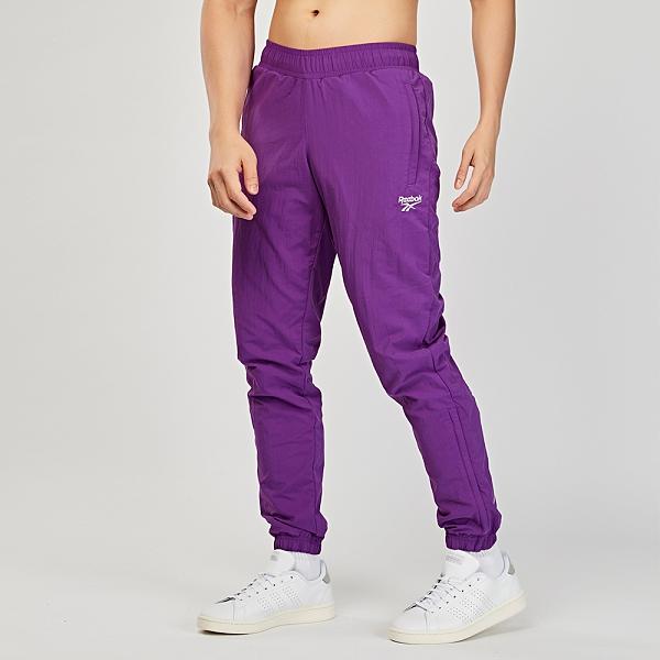 Reebok Vector Track Pants 男款 紫色 運動 長褲 EC5787