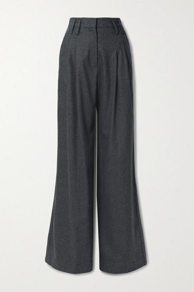 Racil - Maxime 羊毛混纺阔腿裤 - 煤灰色 - FR40