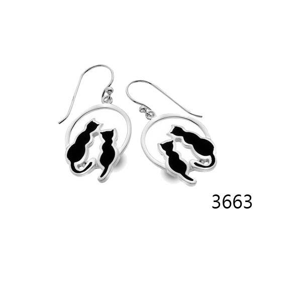 銀淬坊 PurCoeur 925純銀 可愛動物浪漫愛情戀愛雙貓耳環1對