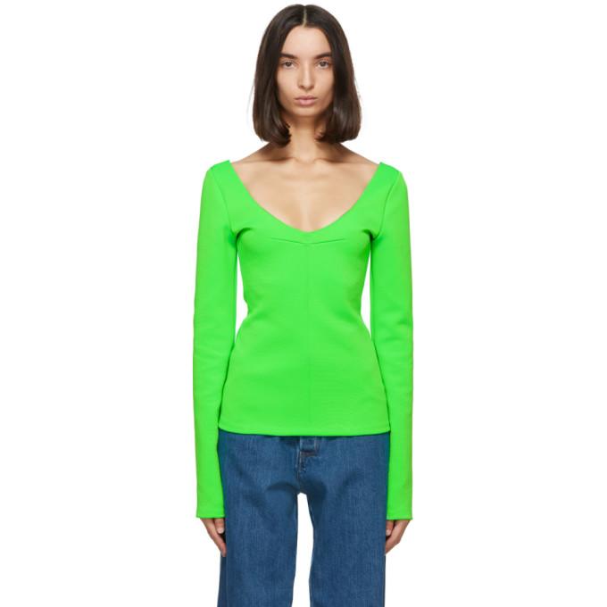 Kwaidan Editions 绿色 V 领针织衫