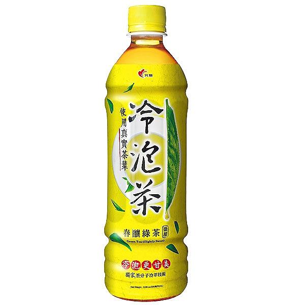 光泉 冷泡茶 春釀綠茶 微甜 585ml