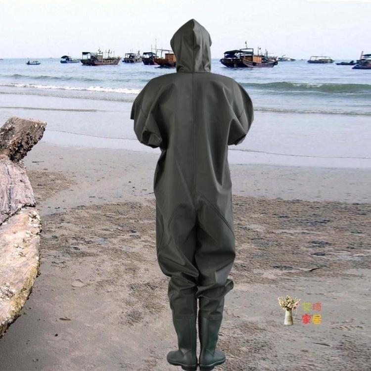 下水褲 全身下水褲連身加厚挖藕服捉魚釣魚防水魚褲下水衣雨褲