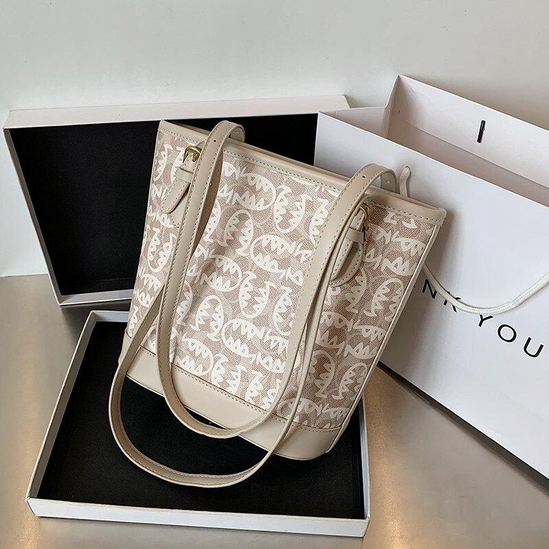 大容量包包女包2020新款潮網紅手提包時尚水桶包百搭側背包托特包 微愛家居