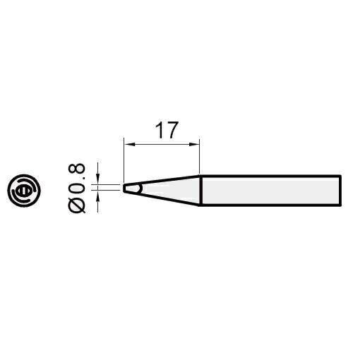 Pro'sKit寶工圓尖烙鐵頭5SI-216N-0.8D