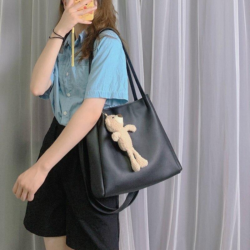 包包女斜背包百搭大容量側背包2020新款潮韓版簡約手提女包托特包 微愛家居
